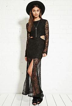 Nightwalker Cutout Lace Maxi Dress   Forever 21   #f21brandedshop