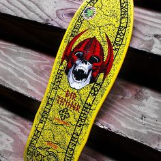 "#PowellPeralta - #Perwelinder #NordicSkull 9.625"" Reissue Now Available in Yellow!"