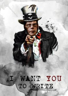 Stephen King I Want You To Write by LukCarrey
