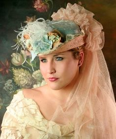 """66135bd881ec6 missingsisterstill: Bonnie Blue Riding Hat/victorian style """"Gone With The  Wind"""" Riding"""