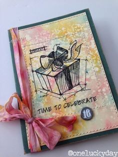 One Lucky Day: STAMPTEMBER with SSS using a Tim Holtz exclusive stamp set; Sept 2014