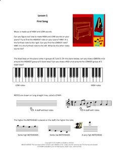 Complete Materials for All Piano Units:Lessons 1-60(For Instant Download) | Hoffman Academy