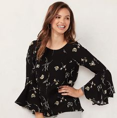 LC Lauren Conrad bell sleeve top