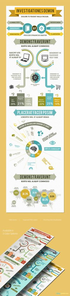 Infographic Ideas buy infographic template : Cool Infographics PSD Template with flowchart style | ZippyPixels ...