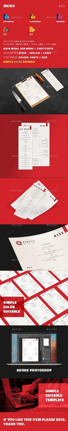 Tri-fold Menu Food menu, Food menu template and Menu templates - bar menu template