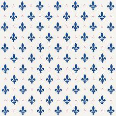 Fleur De Lis Bleu & Rouge 176961 by Schumacher Fabric French-Revolution Linen Wyzenbeek Horizontal: 2 and Vertical: 54 - Fabric Carolina - Doll House Wallpaper, Fabric Wallpaper, Fabric Design, Pattern Design, Print Design, Pattern Art, Light Of Life, Pattern Names, Schumacher