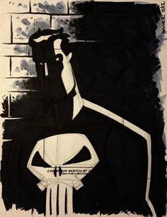 PUNISHER sketchcard 2 by thecheckeredman.deviantart.com on @deviantART