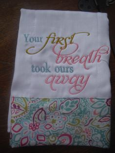 Your First Breath Burp and Onesie Set by AuBamaBoutique on Etsy