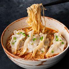 Spicy Peanut Dumpling Noodle Soup - Marion's Kitchen
