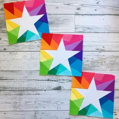 "2,490 Likes, 128 Comments - Kristy Lea (@quietplay) on Instagram: ""Five pointed stars are one of my most favourite shapes - and mixed with rainbow geo? Yum. I…"""