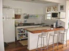 Resultado de imagem para cozinhas americanas com piso laminado