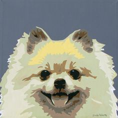 Pomeranian Pet Portrait Painting - By Slade Roberts