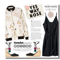 Summer Essentials = Bomber jacket + Pompoms Outfit Idea 2017