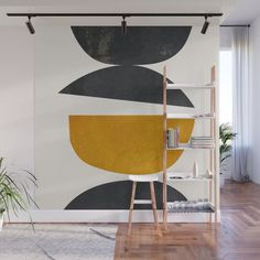 abstract minimal 23 Wall Mural by thindesign Removable Wall Murals, Bedroom Murals, Mural Art, Wall Design, Interior Design Living Room, Decor Styles, Minimalism, Room Decor, Walls