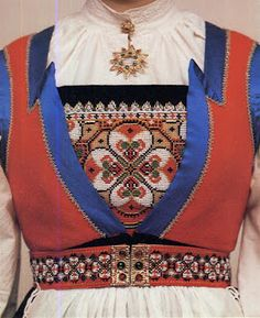 Hello all, Today I will cover the last province of Norway, Hordaland. This is one of the great centers of Norwegian folk costume, hav. Norwegian Clothing, Folk Clothing, Scandinavian Countries, Folk Costume, Scandinavian Design, Traditional Outfits, Lace Detail, Norway, Textiles