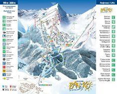 Information about ski slopes and ski area in Bansko, Bulgaria at BulgariaSki. View online all ski runs, all details about snowboarding park and Bansko ski centre. Andorra Ski Resorts, Snowboarding For Beginners, Ski Hire, French Ski Resorts, Bansko Bulgaria, Surf, Ski Holidays, Best Resorts, Chalets