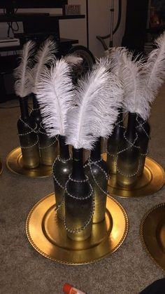 23 Wonderful Gatsby Wedding Party Ideas for Your Great Moment - weddingtopia - Mottoparty - Great Gatsby Theme, Gatsby Themed Party, Great Gatsby Wedding, Trendy Wedding, 1920 Theme Party, Art Deco Party, Wedding Simple, Harlem Nights Party, Masquerade Party Decorations