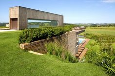 recycled bricks in this Brazilian home
