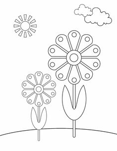 Spring Flowers Coloring Pages Printable Beautiful 35 Free Printable Spring Coloring Pages – Viati Coloring Pattern Coloring Pages, Free Printable Coloring Pages, Coloring Pages For Kids, Coloring Sheets, Coloring Books, Spring Coloring Pages, Flower Coloring Pages, Flower Applique Patterns, Embroidery Patterns