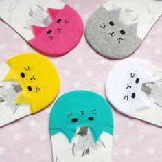 5 Color Kawaii Cat See Through Socks SP167637