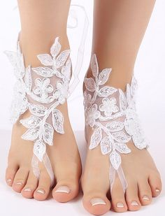 Free Ship white black ivory ankle sandals by ByMiracleBridal