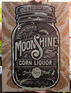 Aldo's Moonshine Corn Liquor - Art Print by Derrick Castle