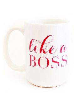 Be a #GIRLBOSS with our boldly spoken mug. It might just be the right amount of motivation needed to get through the day. All custom pieces are non-returnable and non-refundable. Measurements (approxi