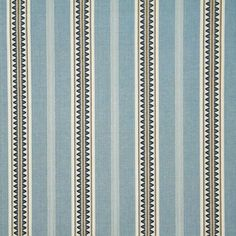 Pindler Fabric 5629 RIMINI - BLUE www.pindler.com. Stripes are so versatile- can go with many other patterns.