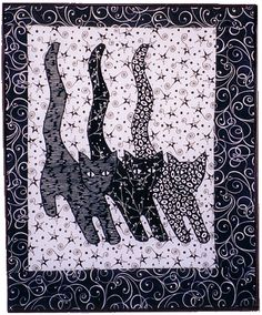 """""""Cat Parade""""  pattern by Ursula Riegel at Designs to Share With You (Canada).  Simple but clever."""