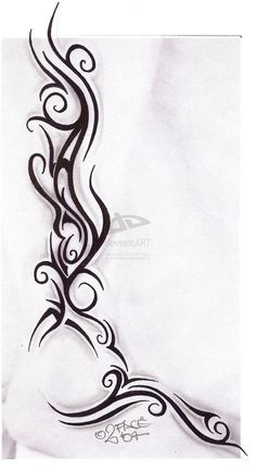 Tribal tattoo sketch