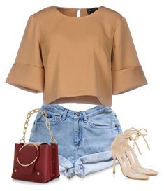 """Untitled #1907"" by iammelissa ❤ liked on Polyvore featuring Levi's, The Fifth Label, Manolo Blahnik and Yuzefi"