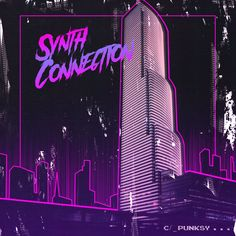 https://www.curioos.com/product/print/connection-2  #punksy #synthpop #retrowave #80s #eighties #neon #vicecity #moonbeamcity #miamivice #cover #print #poster #music #vinyl