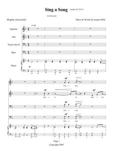 "This joyful SATB anthem is based on Isaiah's ""Song of Praise To The Lord"" (Isaiah 42:10) and is perfect for any Sunday service sung by your gospel choir, youth choir or for Christian high school choirs. It has a great rock feel that young singers will love, and the soprano descant at the end makes for an exciting finish. Also suitable for Palm Sunday services! Approx performance time is 3:30. Sheet Music Pdf, Song Sheet, Digital Sheet Music, Isaiah 42, Christian High School, Praise Songs, Music Download, Musical Theatre, Teaching Tools"