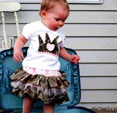 #camo baby girl. Because even camo girls have an inner princess.