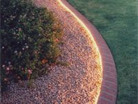Rope Lighting Edging. Great, inexpensive DIY lighting idea for patios, gardens & walkways.