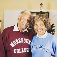 Spelhouse Love looks great, even decades later as Mr. and Mrs. Bray celebrate 57 years of marriage. Happy anniversary ❤️ : @pope.weddings #spelhouse #hbculove #hbcu #spelmab #morehouse #spelhouselove