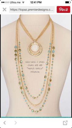 Premier designs. Belize and French vanilla Premier Designs Jewelry by Shawna Digital Catalog: http://shawnawatson.mypremierdesigns.com/ Facebook: https://www.facebook.com/WatsontrendwithShawna #pdstyle #jewelryladylife