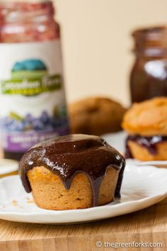 Peanut Butter Muffins (vegan)- split them open and fill with jelly OR ...