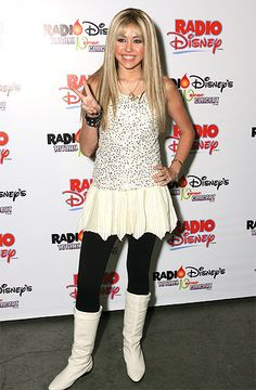 Miley Cyrus As Hannah Montana - I miss the days when she was young and innocent and I was obsessed with her!
