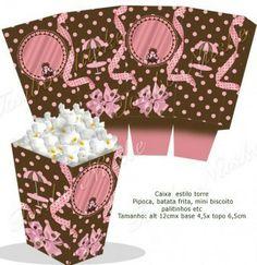 Cash for Poa palomitas de maíz marrón y rosa