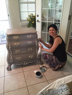 I had the privilege to paint a cool piece of furniture for a customer. This is the before picture I will share what I used for this transformation. First, I painted two coats of Coco color ASCP. Ne…