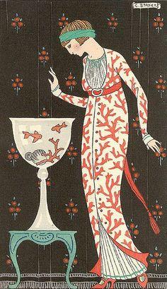 robe d'interieur en soie brochee..  by t. van gieson, via Flickr