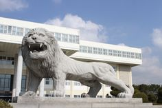 Lion statue of Hanyang Erica campus  Can you see lion roar? lol