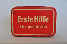 Authentic Vintage German First Aid Tin BerlinerStrasse