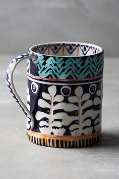 Painted Isla Mug #anthropologie PURPLE