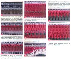 How to use ribber cast on comb when knitting folded hem. Picture tutorial as I can't read Russian, but the idea is clear.