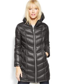 Calvin Klein Petite Quilted Down Packable Puffer Coat - Coats - Women - Macy's