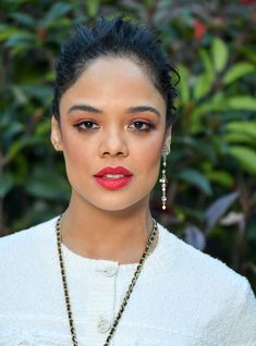 In this episode of Beauty Evolution, watch our model get transformed into Tessa Thompson — plus, pick up her killer hair and makeup secrets. Tessa Thompson, Pretty People, Beautiful People, Beautiful Women, Marvel Women, Glossy Lips, Lady And Gentlemen, Girl Crushes, Black Girl Magic