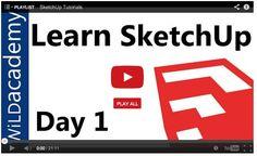 #CAD Tutorials: Sketchup Tutorials - SwarmBuild Blog #MAKE #STEM