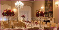 dekoracje weselne w restauracji Pod Gigantami dla miłośniczki czerwonych róż